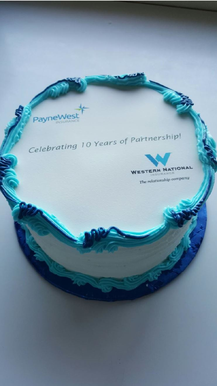 Western national - cake for gallery (anniversary)